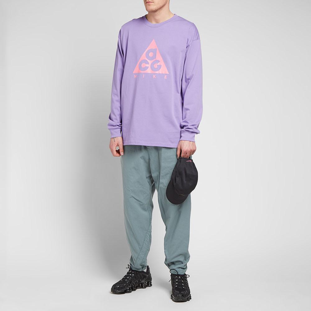 36fdeca5 Nike ACG Long Sleeve Logo Tee Space Purple & Lotus Pink | END.