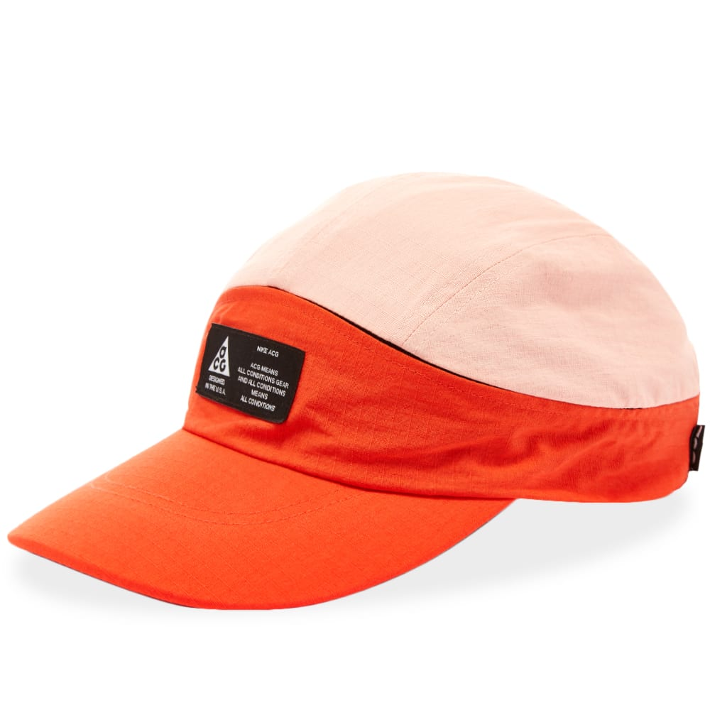 outlet store 9faf8 bd6e6 Nike ACG Tailwind Visor Cap Habanero Red   White   END.