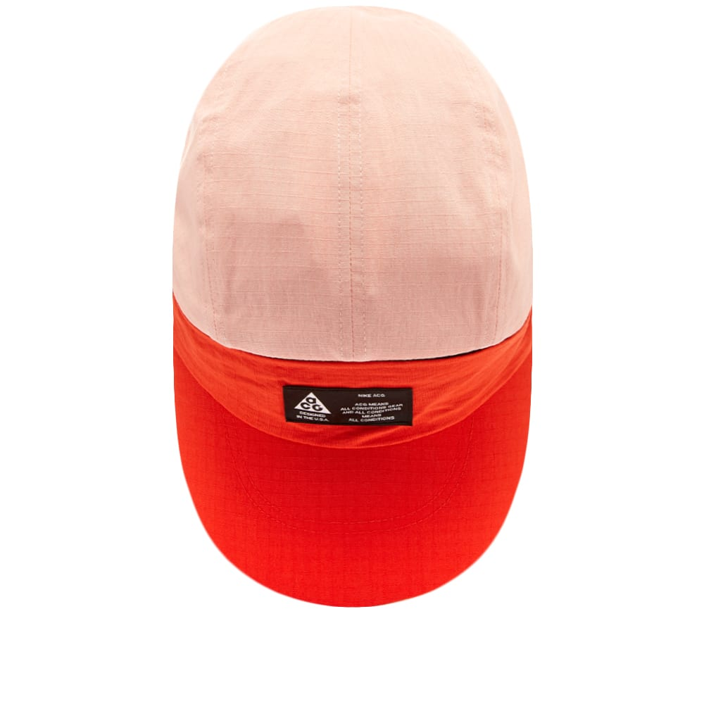 fbd0b50634ba54 Nike ACG Tailwind Visor Cap Habanero Red & White   END.