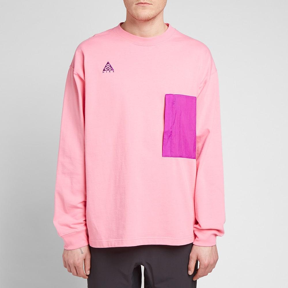 37c7a3b6 Nike ACG Long Sleeve Pocket Tee Lotus Pink & Vivid Purple | END.