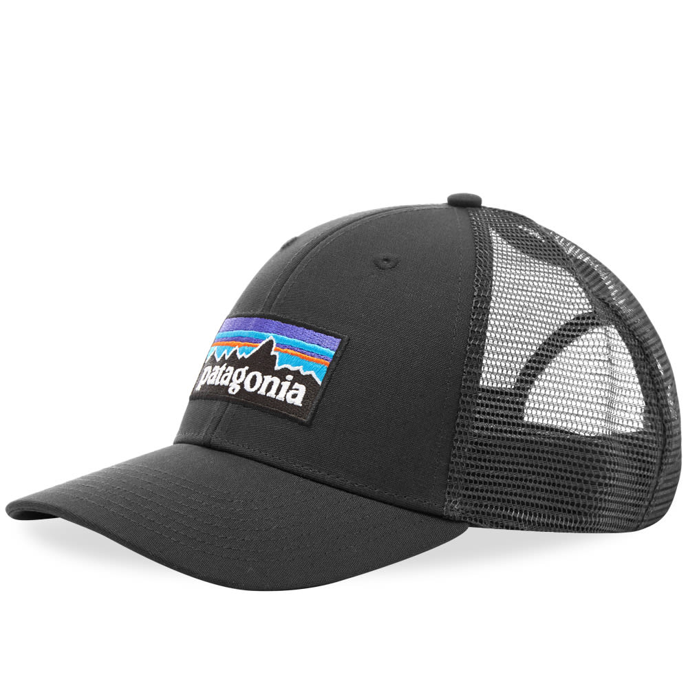 d8fcee0c75f06 Patagonia P-6 Logo LoPro Trucker Cap Black