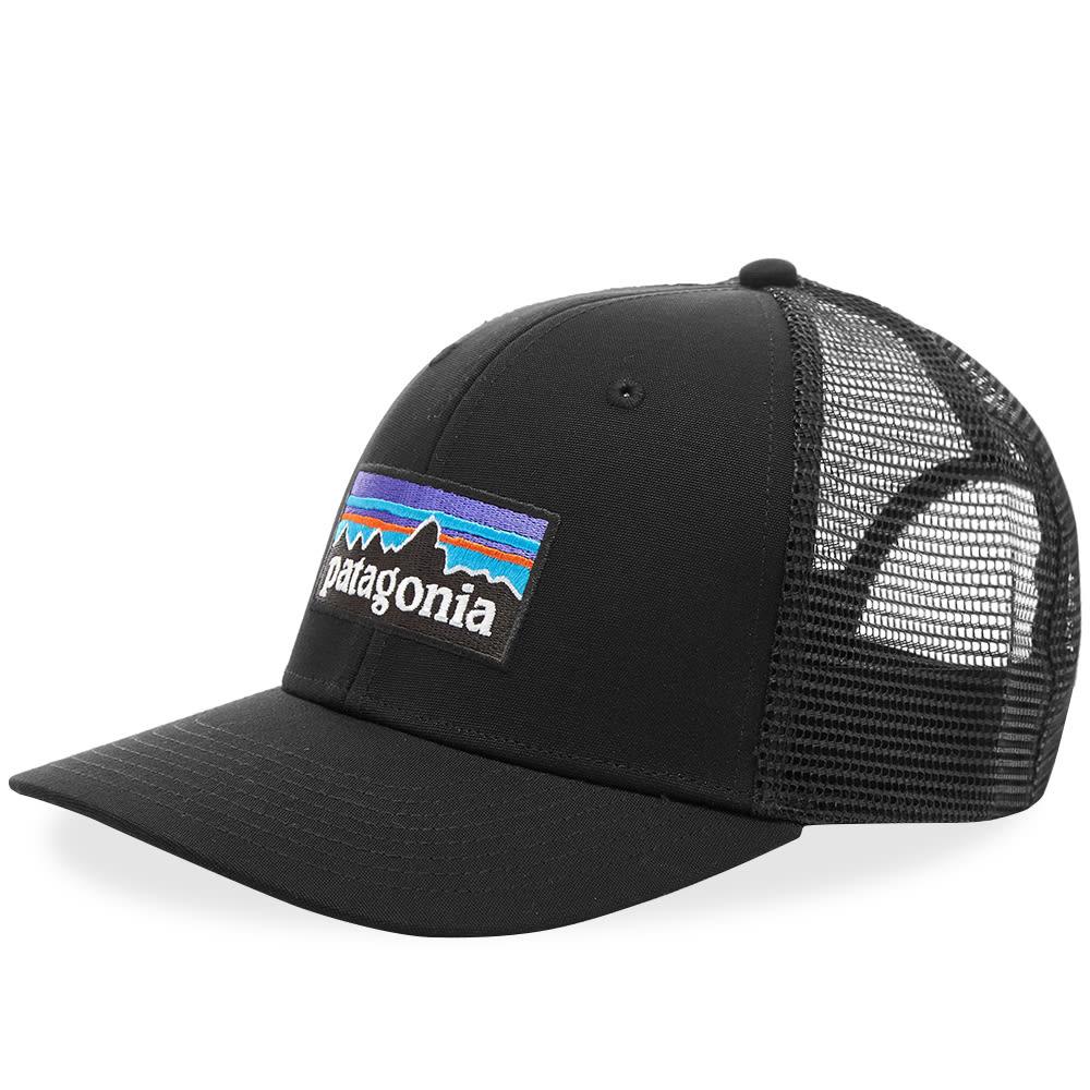 5ff2b7b99956b Patagonia P-6 Logo Trucker Cap Black