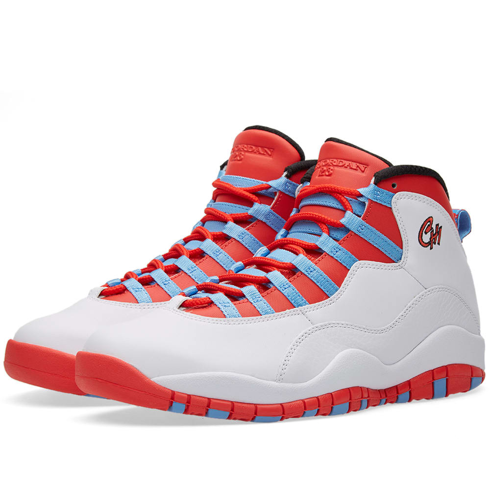nike air jordan 10 retro white light crimson. Black Bedroom Furniture Sets. Home Design Ideas