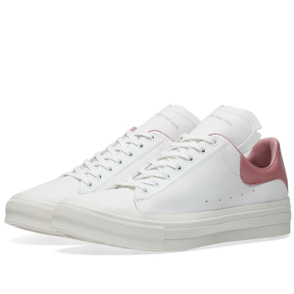 Alexander Mcqueen Low-top Leather Trainers In White
