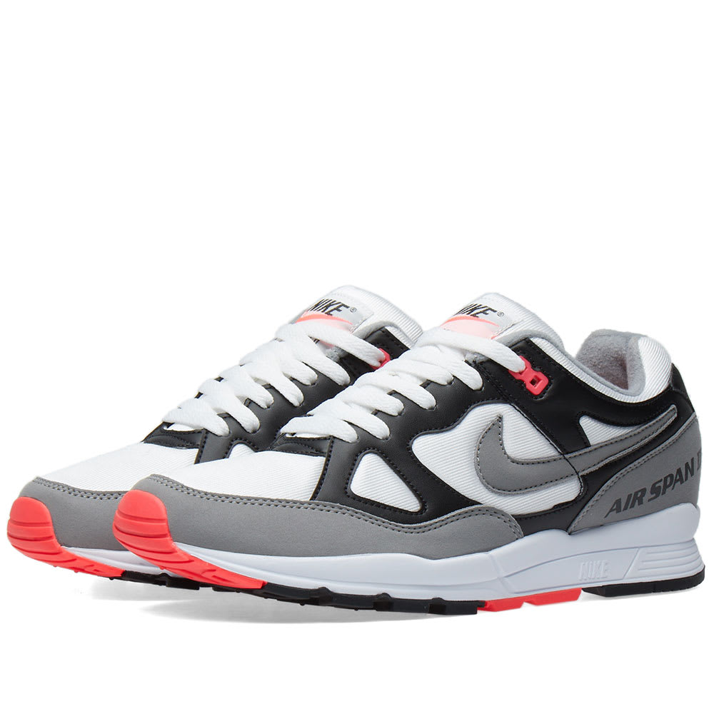 separation shoes 73694 9a957 Nike Air Span II OG Black, Dust   Solar Red   END.