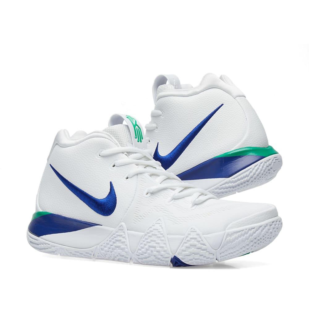 5d455cca94a Nike Kyrie 4 White   Deep Royal Blue