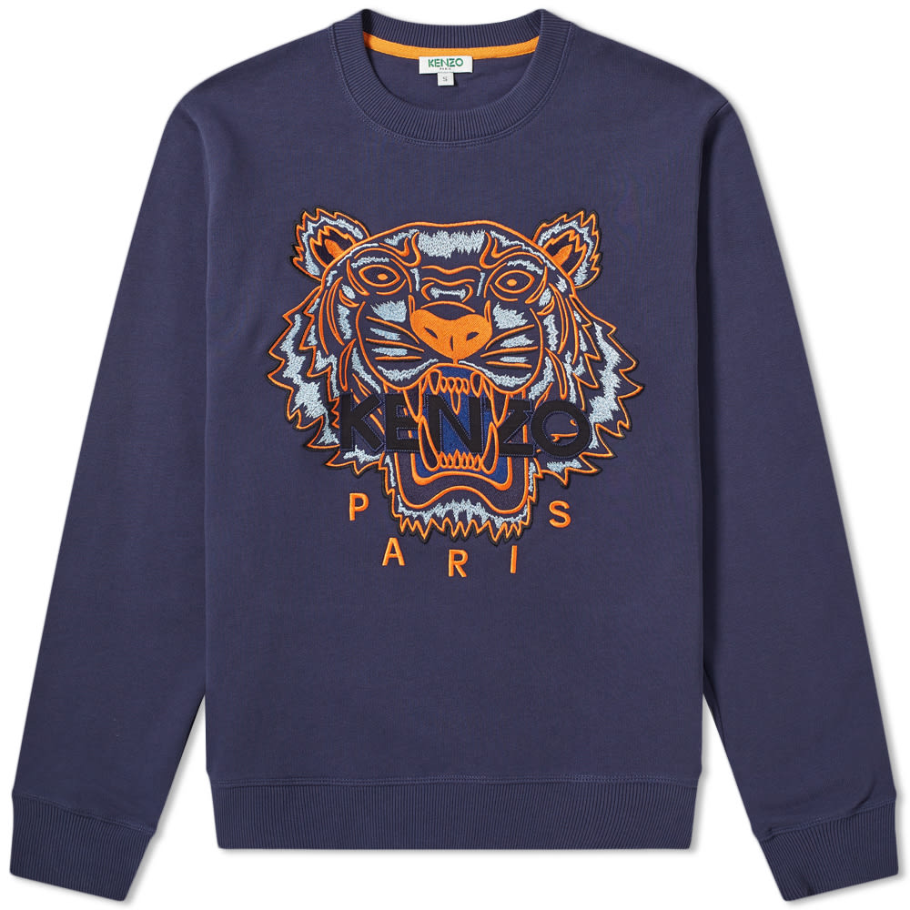 f0e8a790 Kenzo Tiger Embroidered Crew Sweat Ink | END.