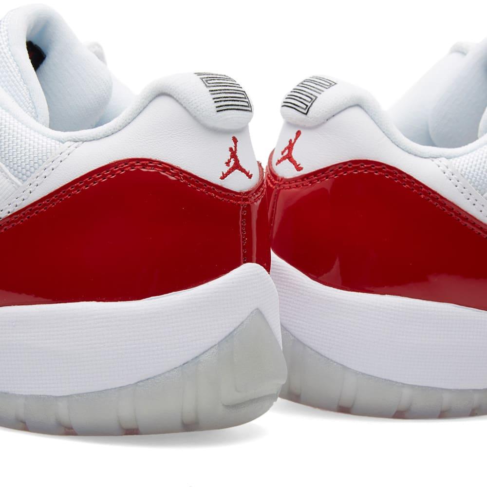 newest 274f2 8461b Nike Air Jordan 11 Retro Low. White, Varsity Red ...