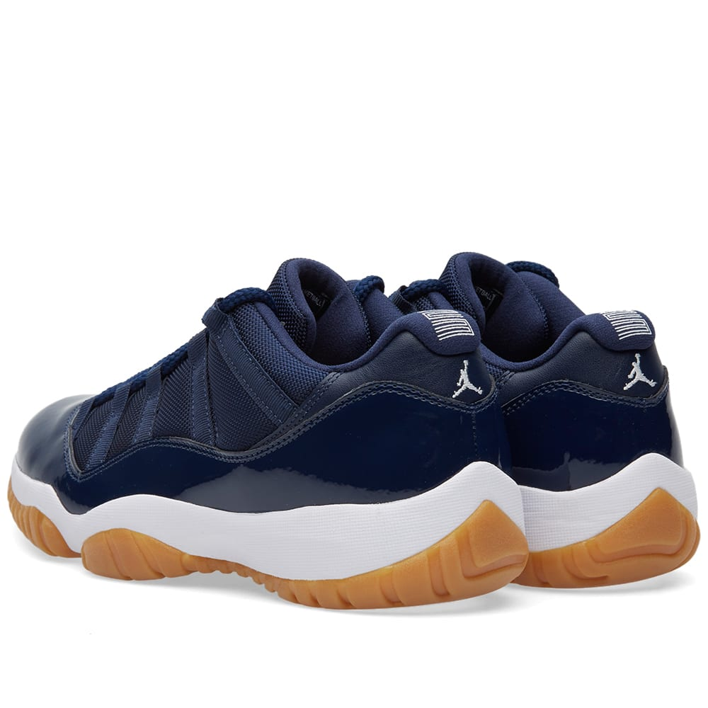 Nike Air Jordan 11 Retro Low (Midnight Navy, White & Gum)