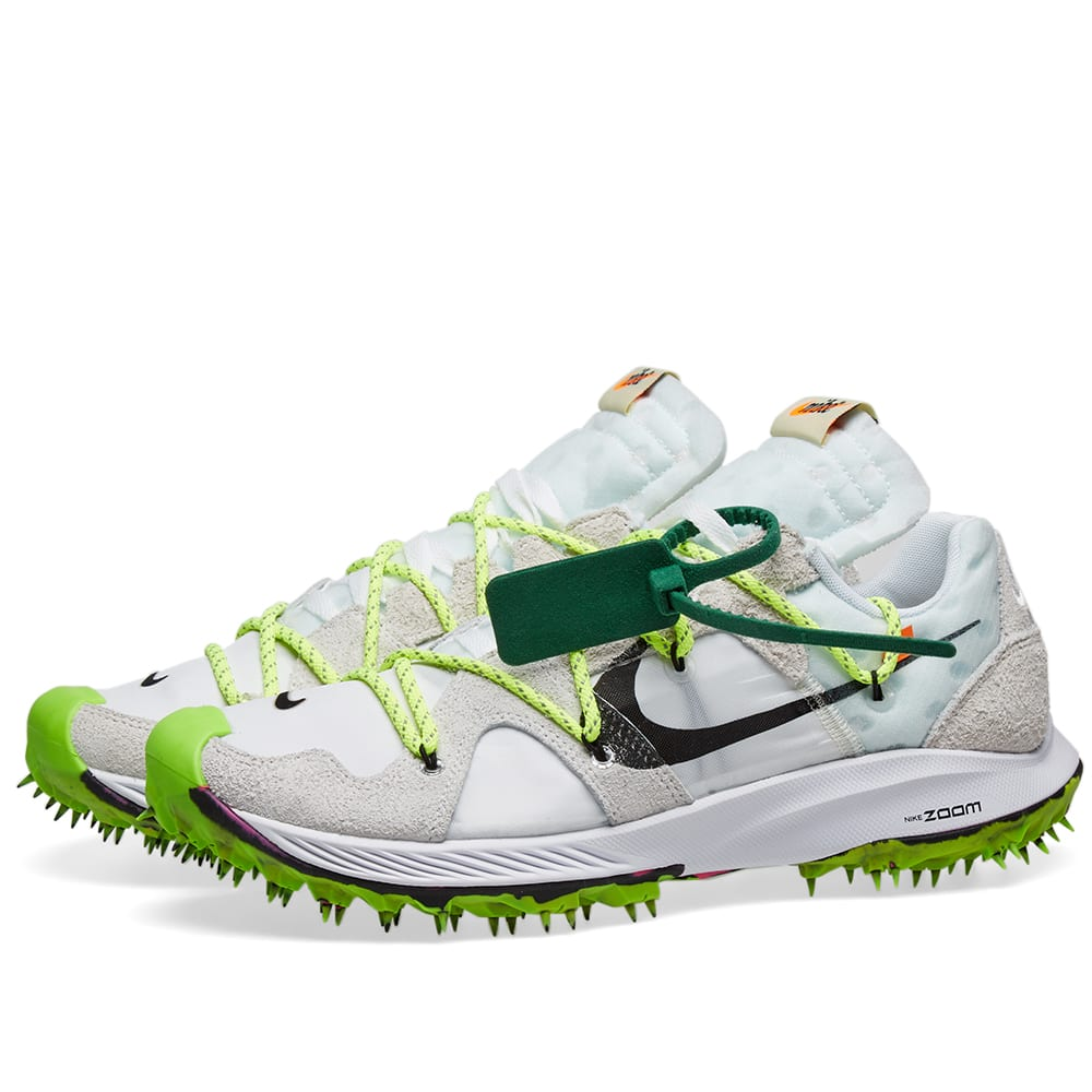 wholesale dealer amazing price low cost Nike x Off-White Zoom Terra Kiger 5 W White & Metallic Silver | END.