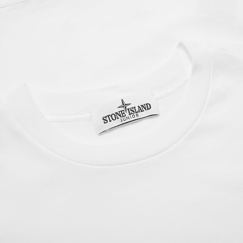 caba46ec1a09 Stone Island Junior Patch Logo Tee White   END.