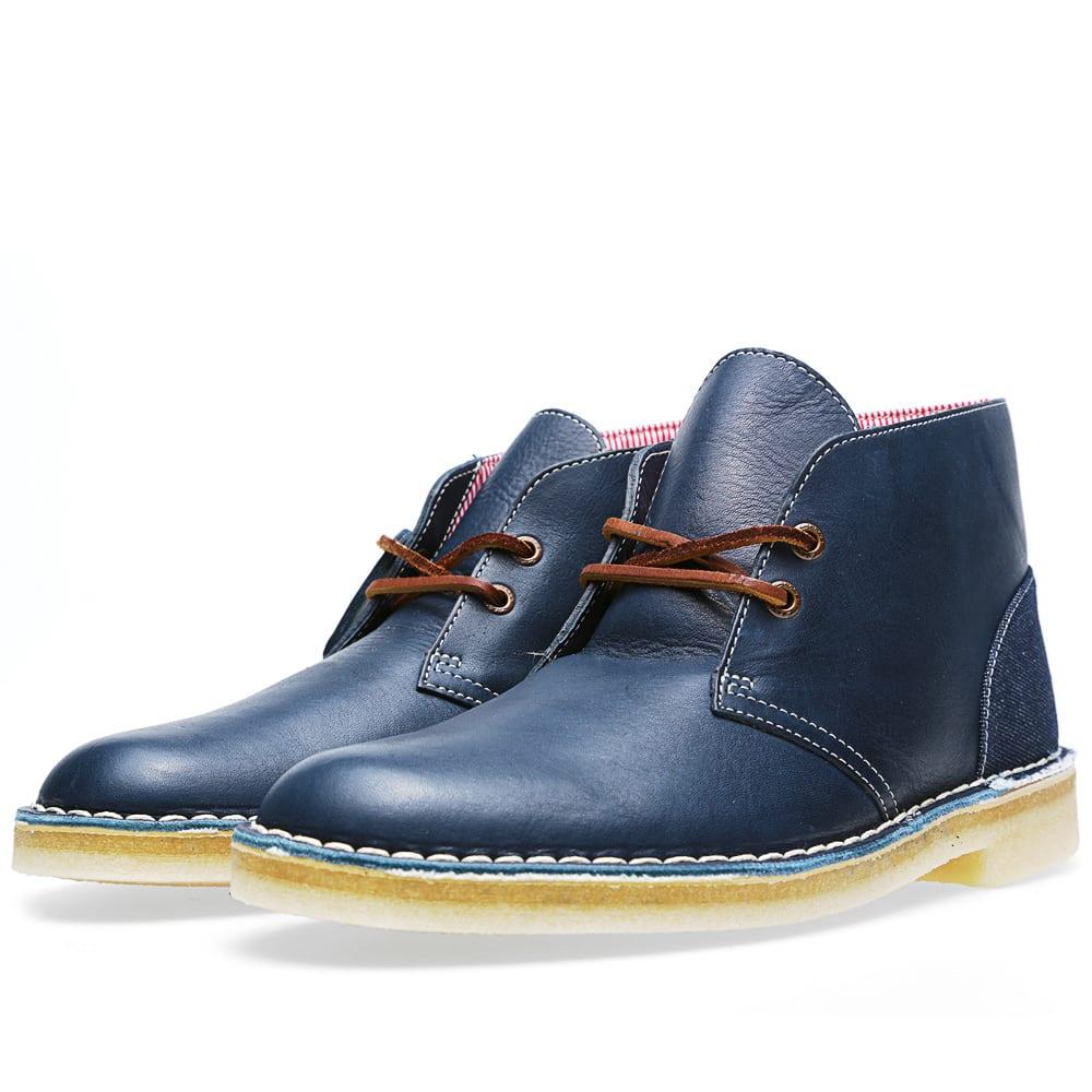 clarks originals x herschel supply co desert boot blue combi. Black Bedroom Furniture Sets. Home Design Ideas
