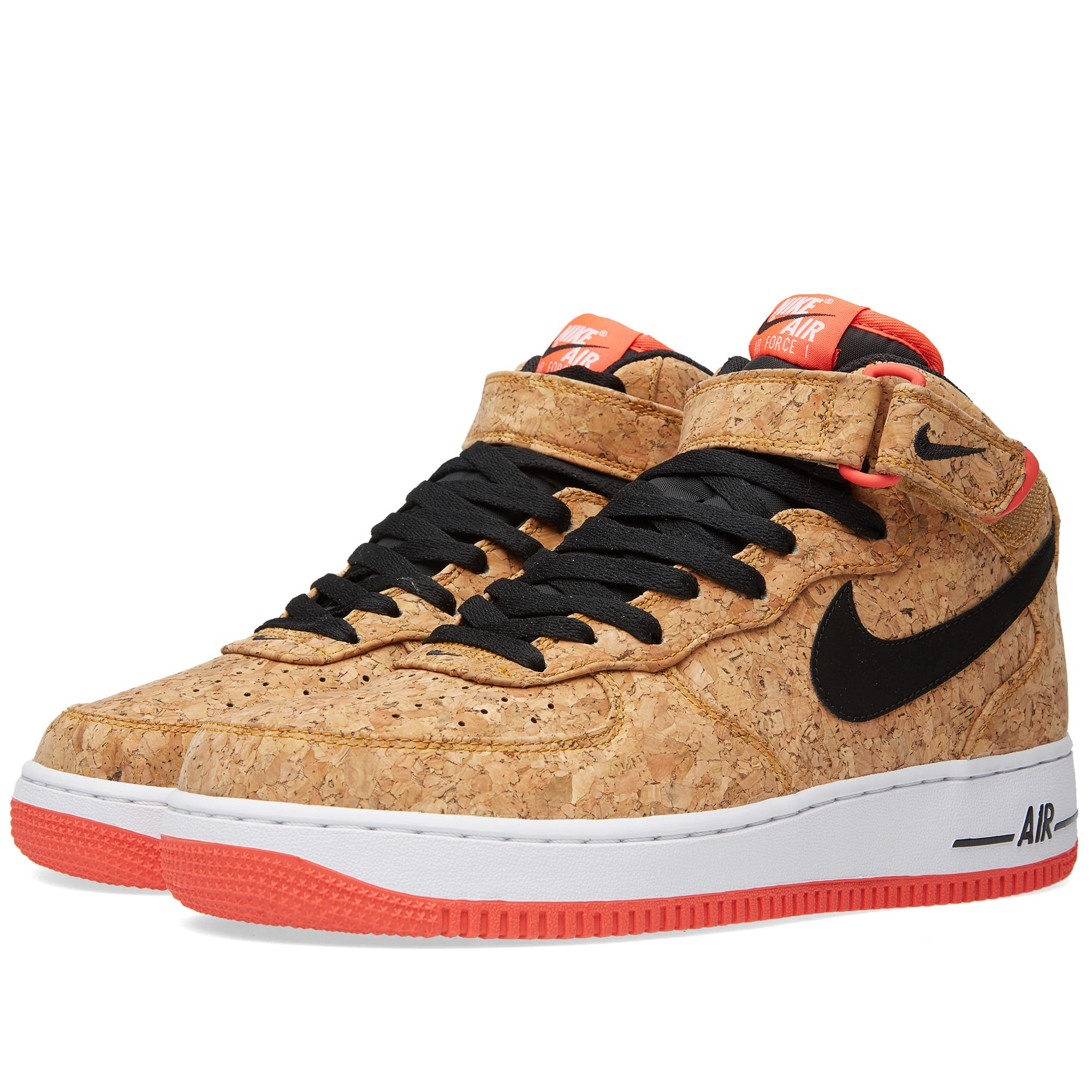 nike air force 1 mid 39 07 39 cork 39 natural black. Black Bedroom Furniture Sets. Home Design Ideas