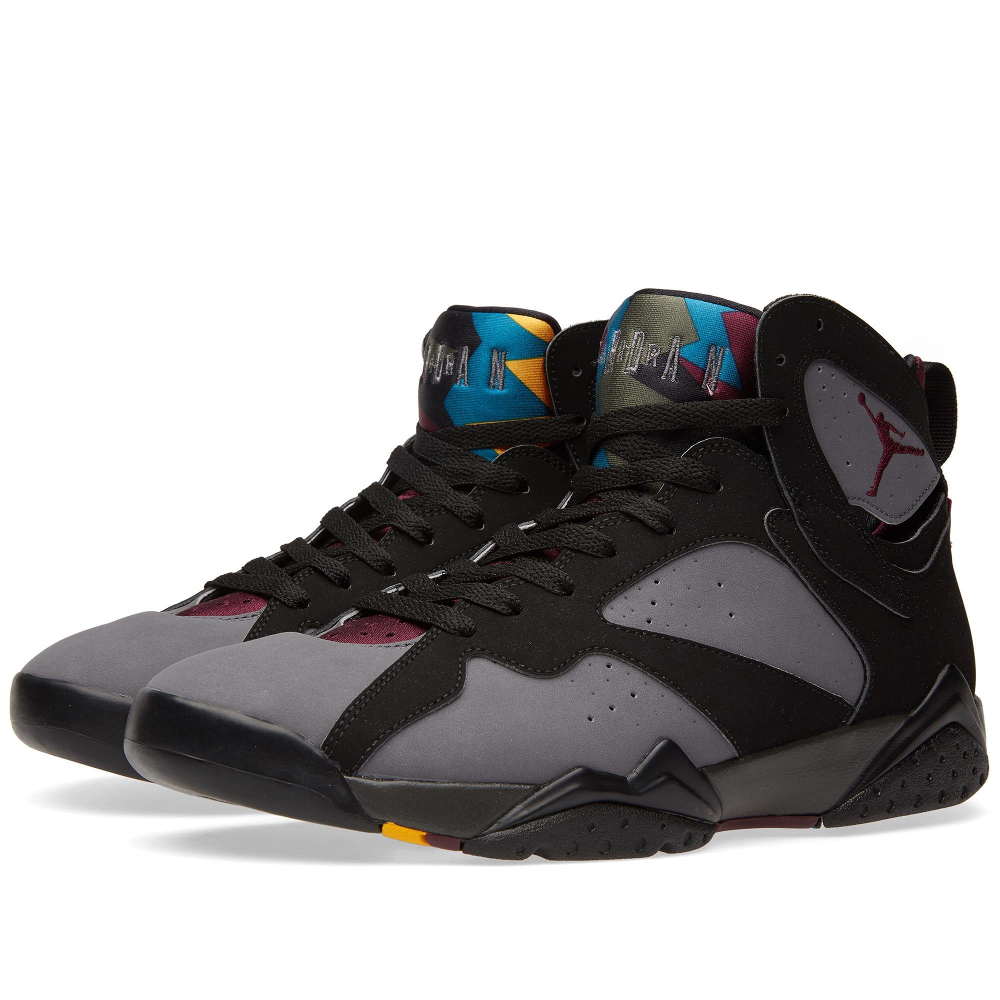 Nike air jordan vii retro black bordeaux graphite for Retro bordeaux