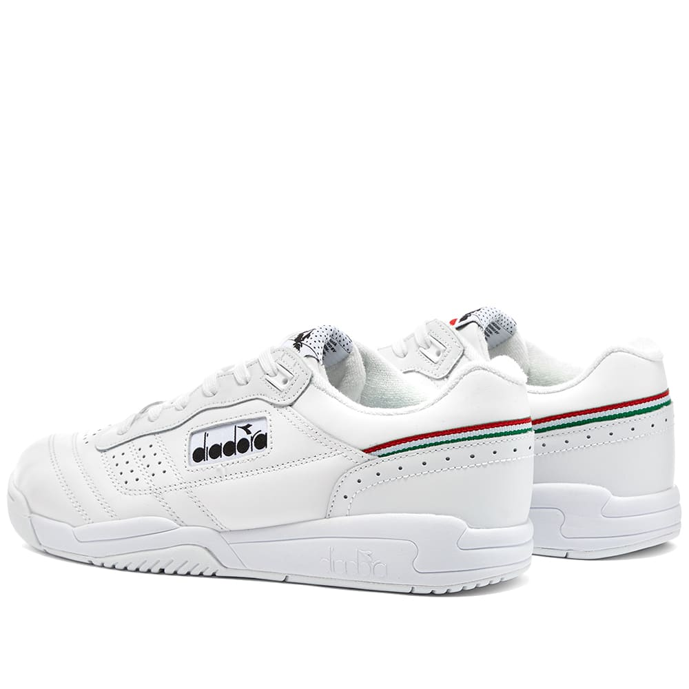 Diadora Action Trainers in White OG Tennis shoes, full