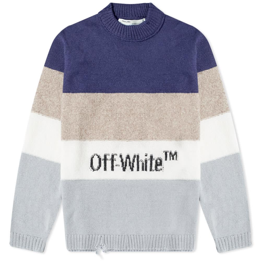 Off-White Stripe Logo Knit