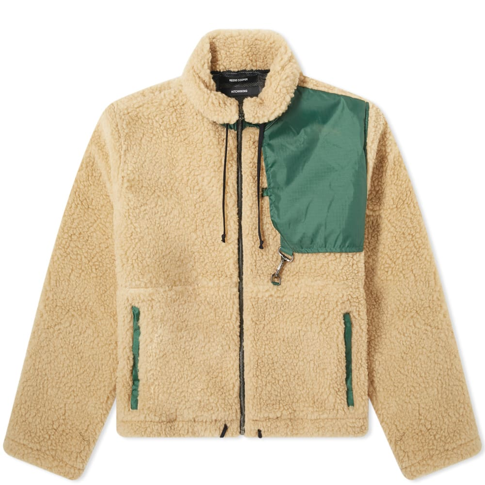 Reese Cooper REESE COOPER CROPPED SHERPA FLEECE