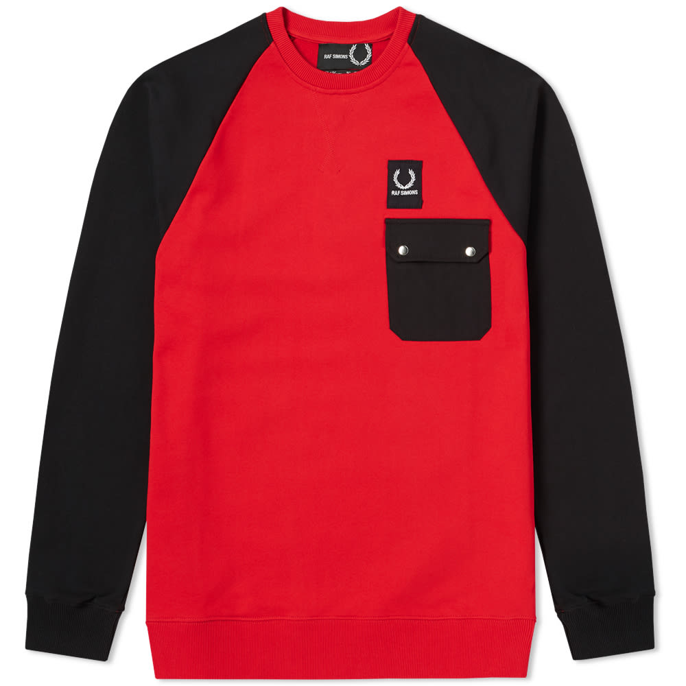 FRED PERRY X RAF SIMONS COLOUR BLOCK SWEAT