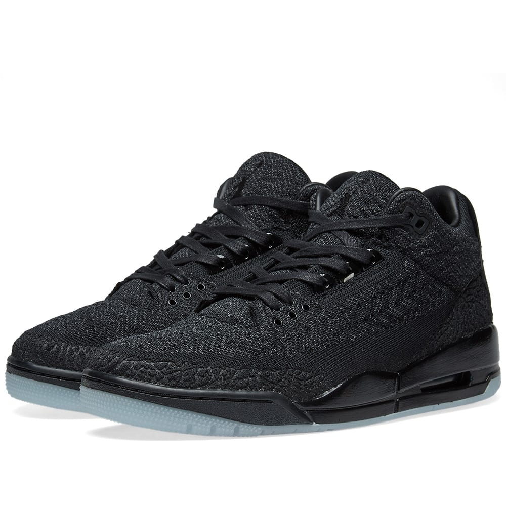 14d1a4366cce6 Nike Air Jordan 3 Retro Flyknit Black   Anthracite