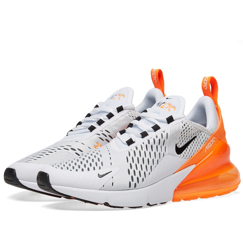 the best attitude 9ec10 68ff2 Nike Air Max 270 W White, Black   Orange   END.