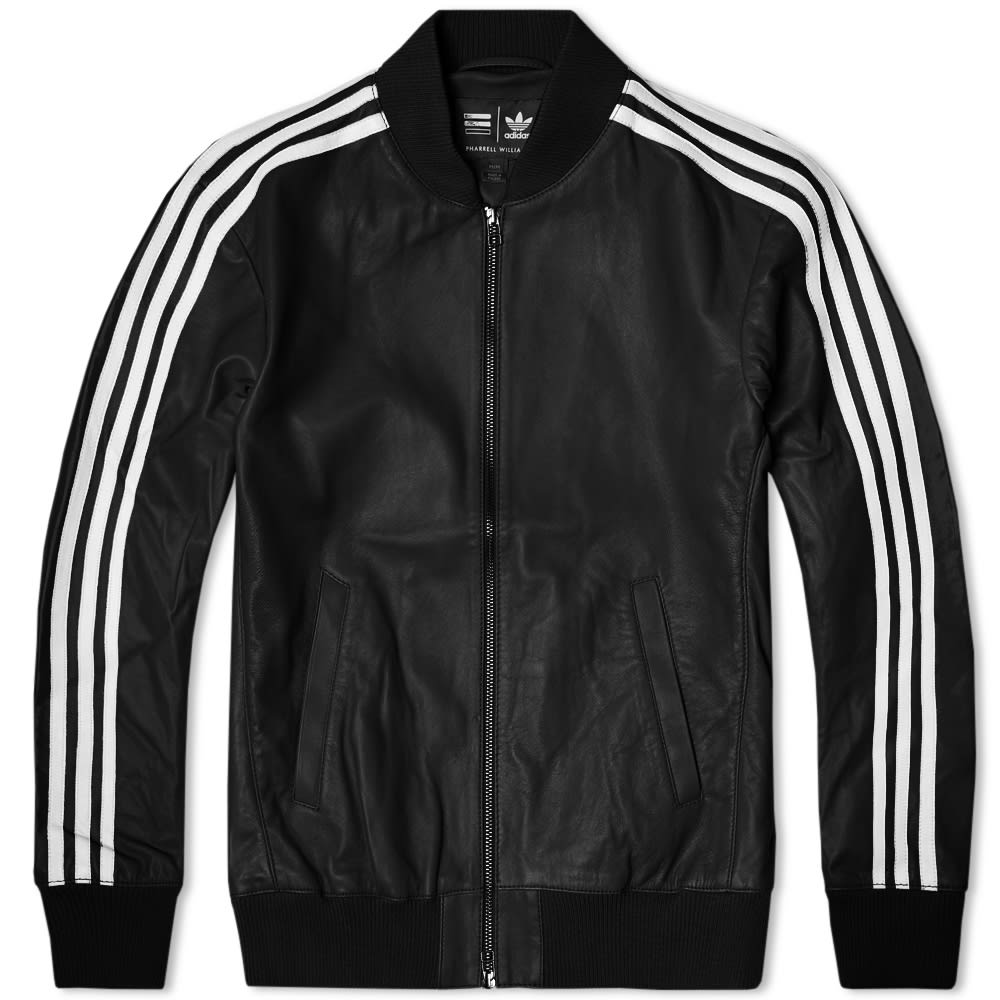 leather adidas jacket