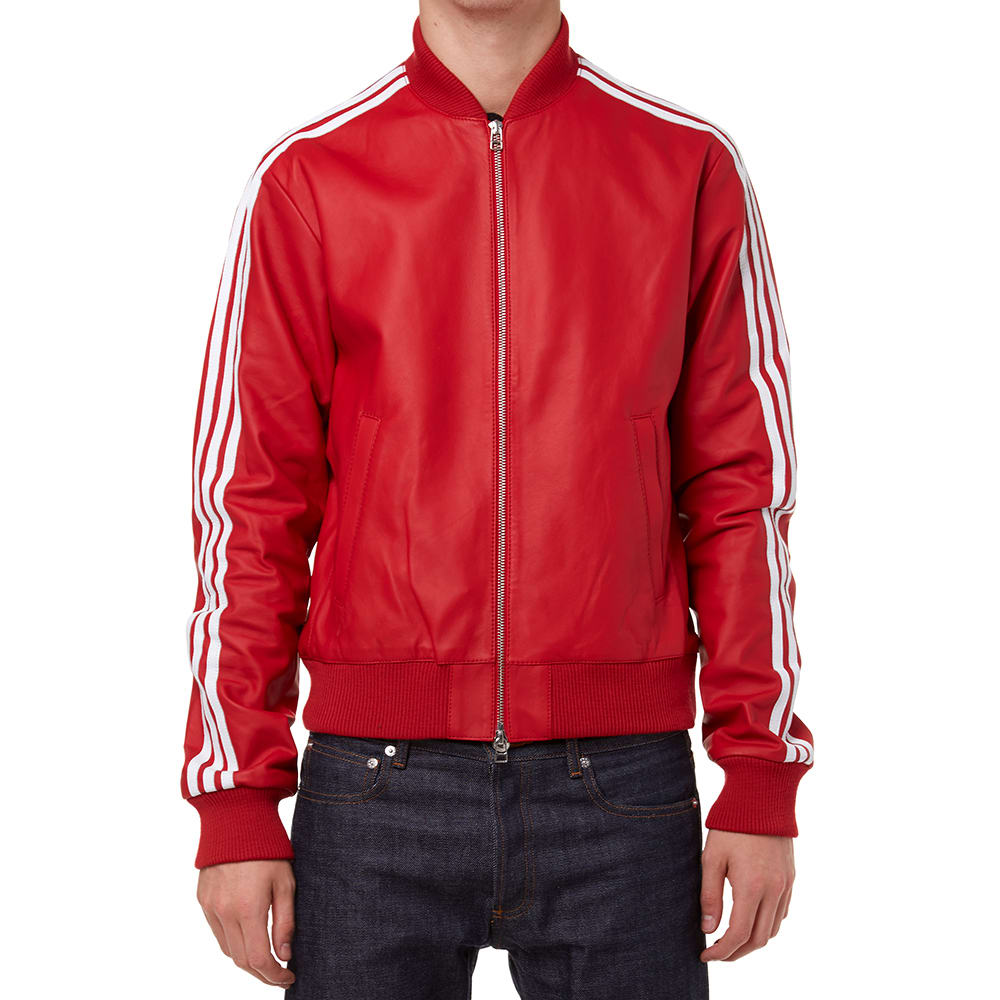 857970011c92f Adidas Consortium x Pharrell Williams Leather Track Top  Solid  Red ...