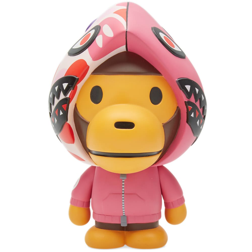 a239a259 A Bathing Ape x Medicom Shark Hoody Baby Milo Doll Pink | END.