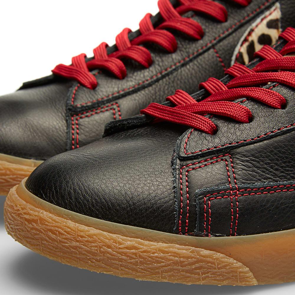 Nike Blazer Mid Premium Vintage QS *Safari Collection* (Black Natural Valiant Red)