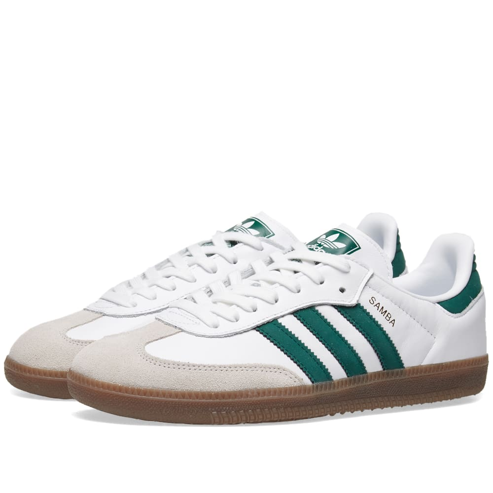 purchase cheap 4b03b 20c69 Adidas Samba OG White   Green   END.