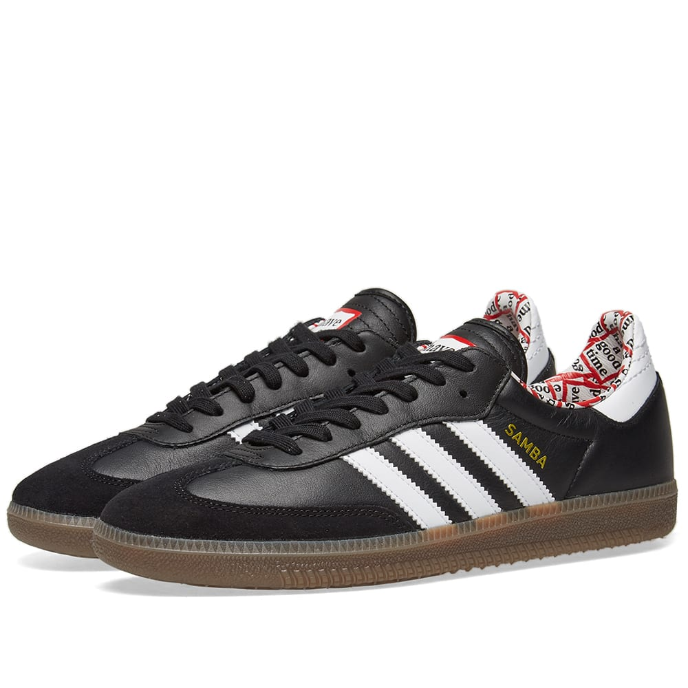 ef437a64ca2 Adidas x Have a Good Time Samba Black