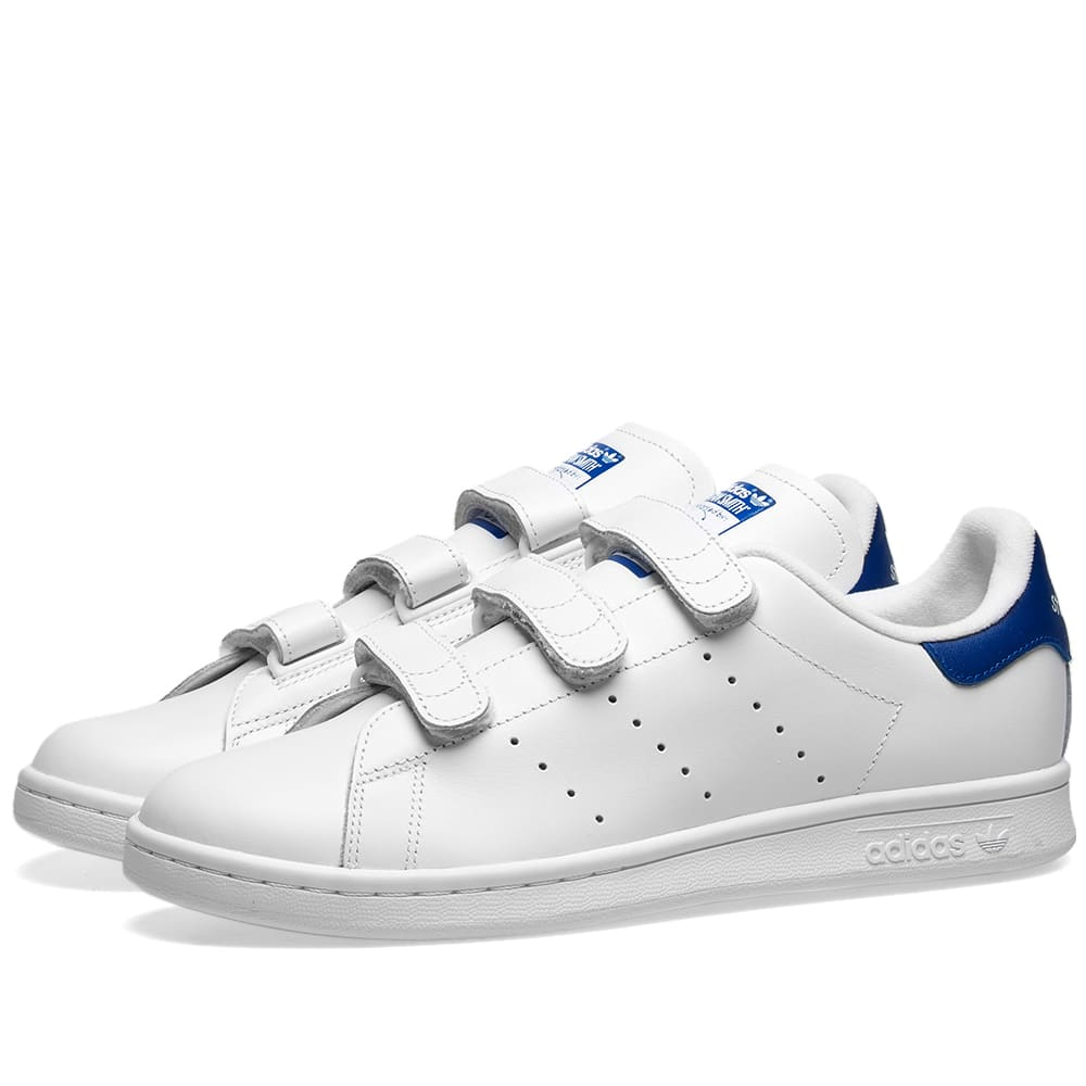 STAN SMITH CF White Stan Smith CF leather trainers with Velcro