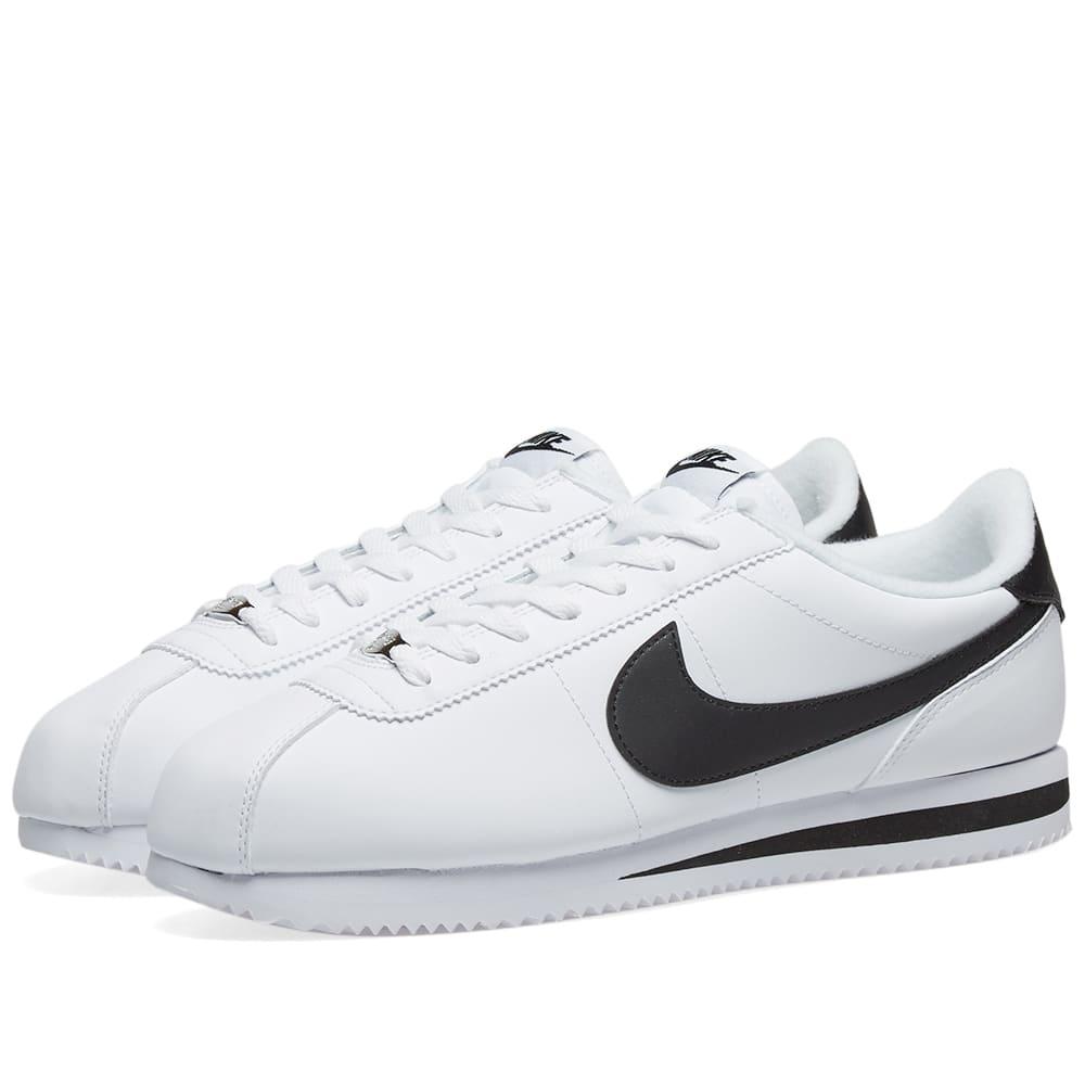 nike classic cortez all white