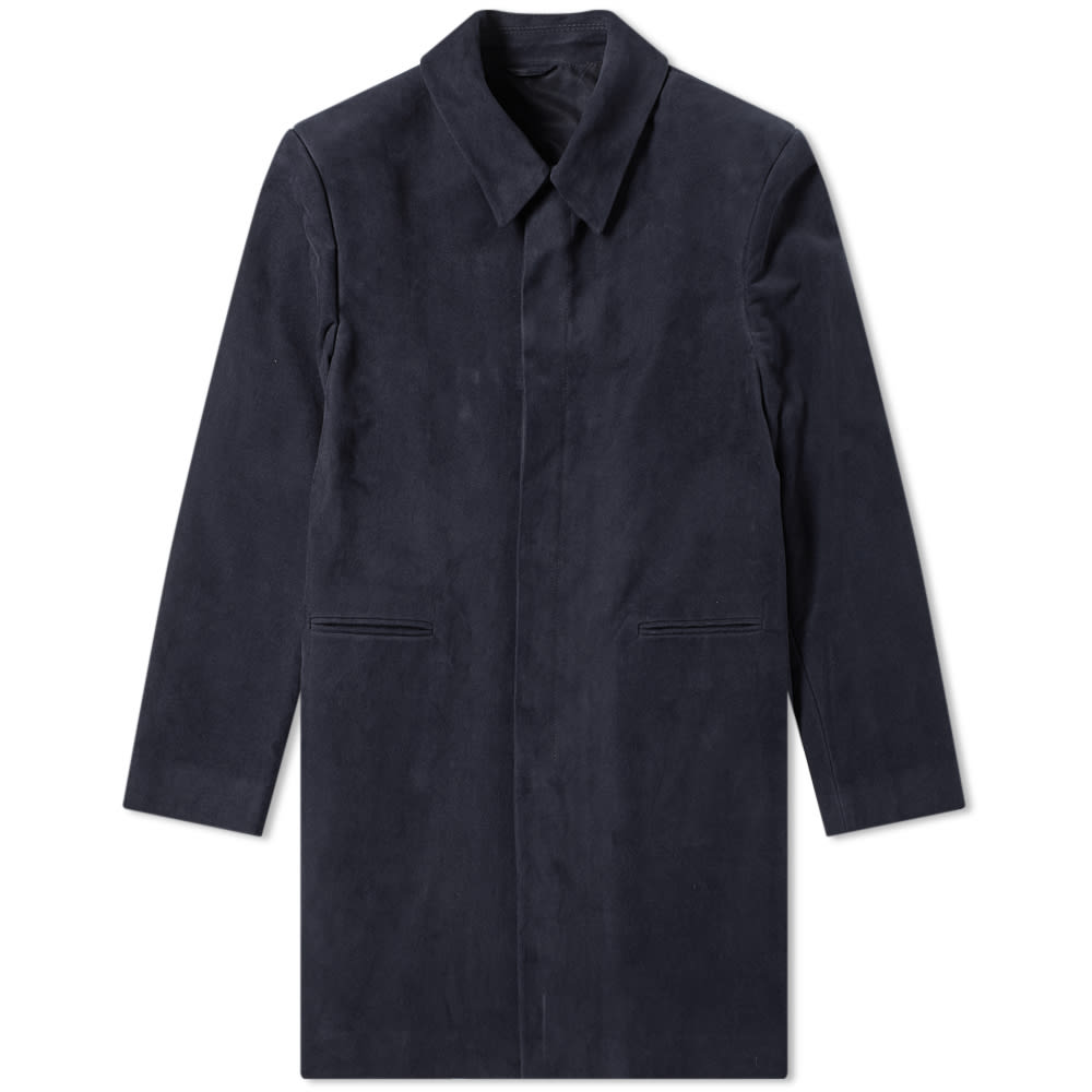 Raf Simons Short Martingale Coat In Blue