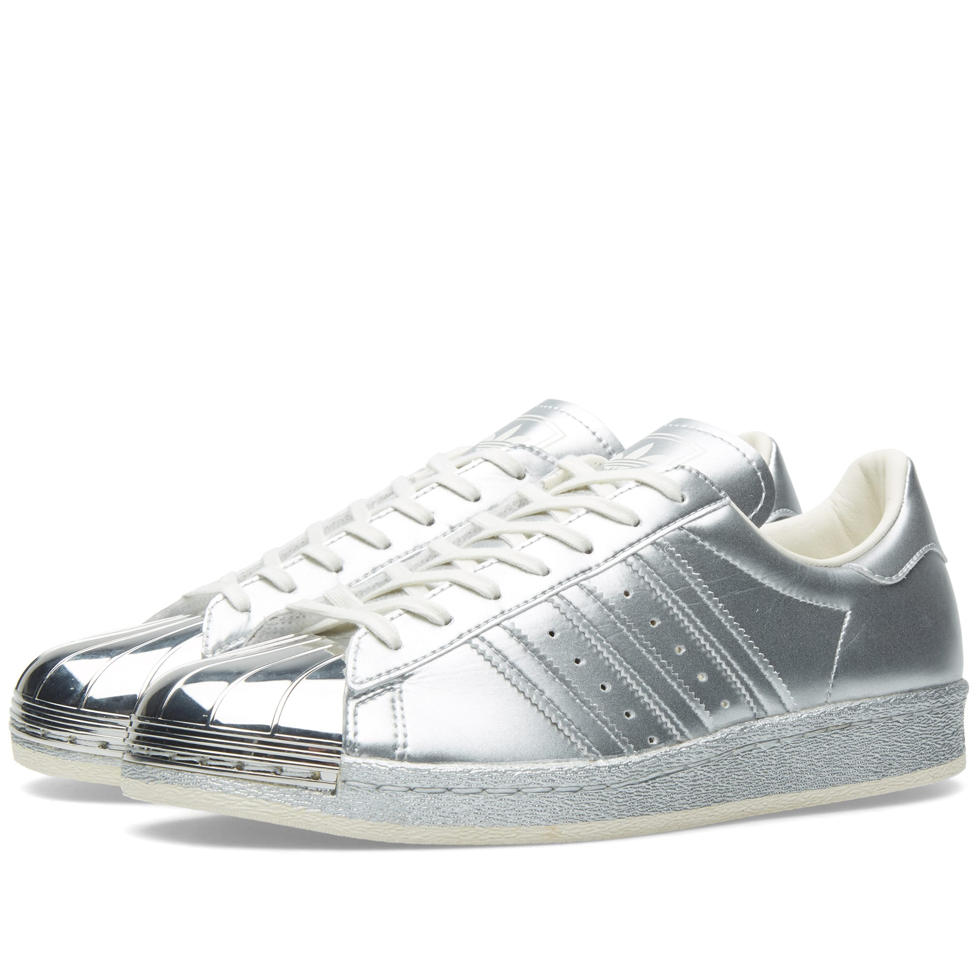 Silver Adidas Superstars