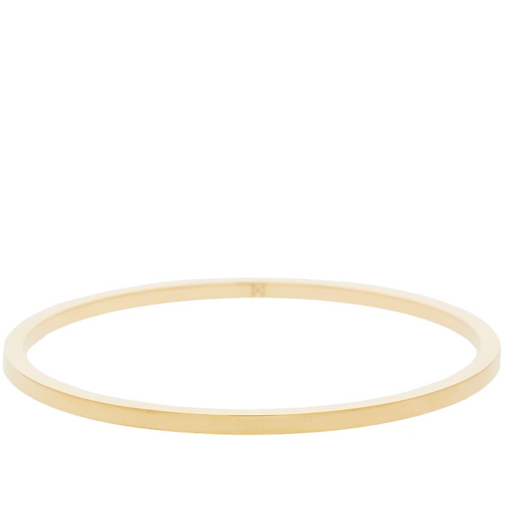 MINIMALUX Minimalux Brass Round Bangle in Gold
