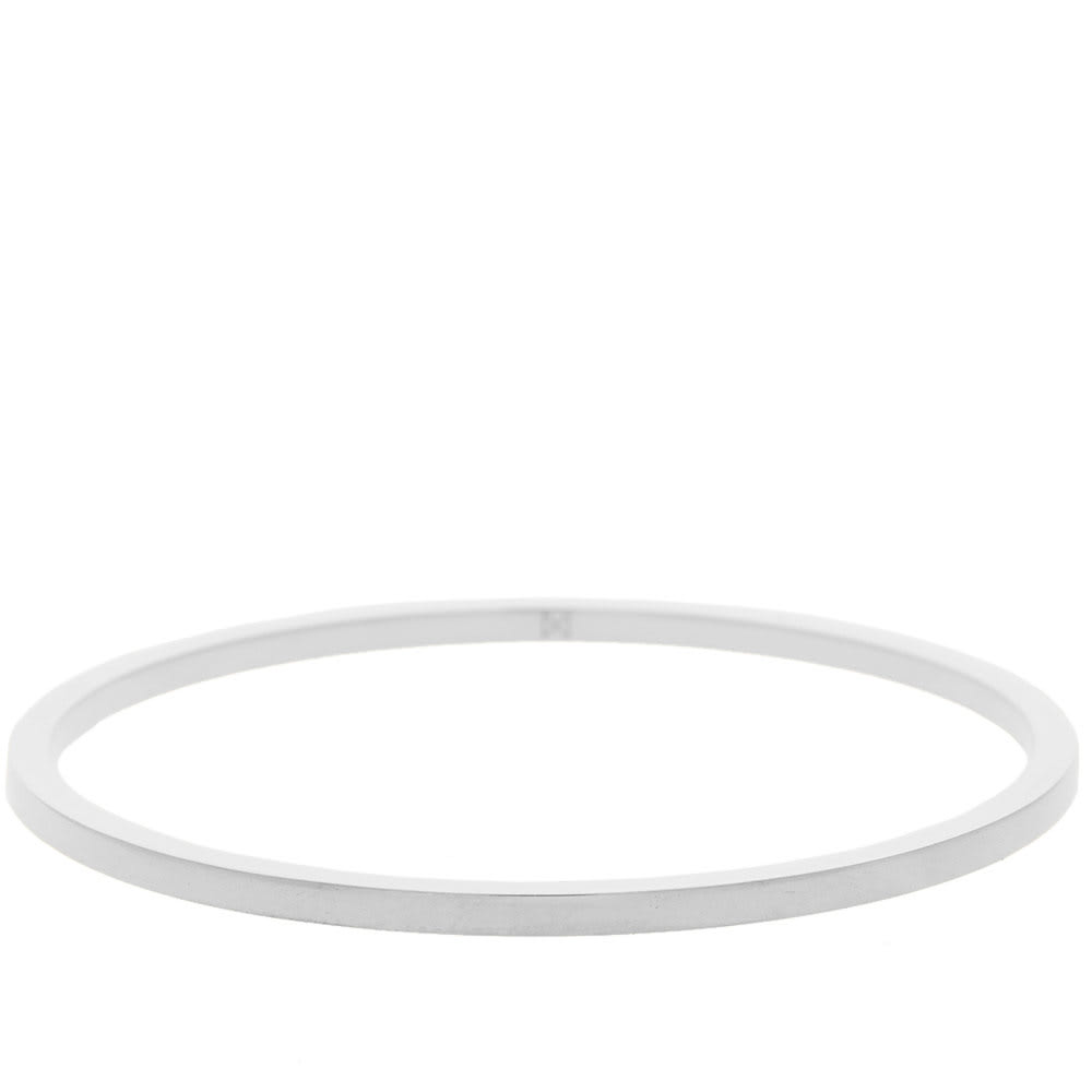 MINIMALUX STERLING SILVER ROUND BANGLE