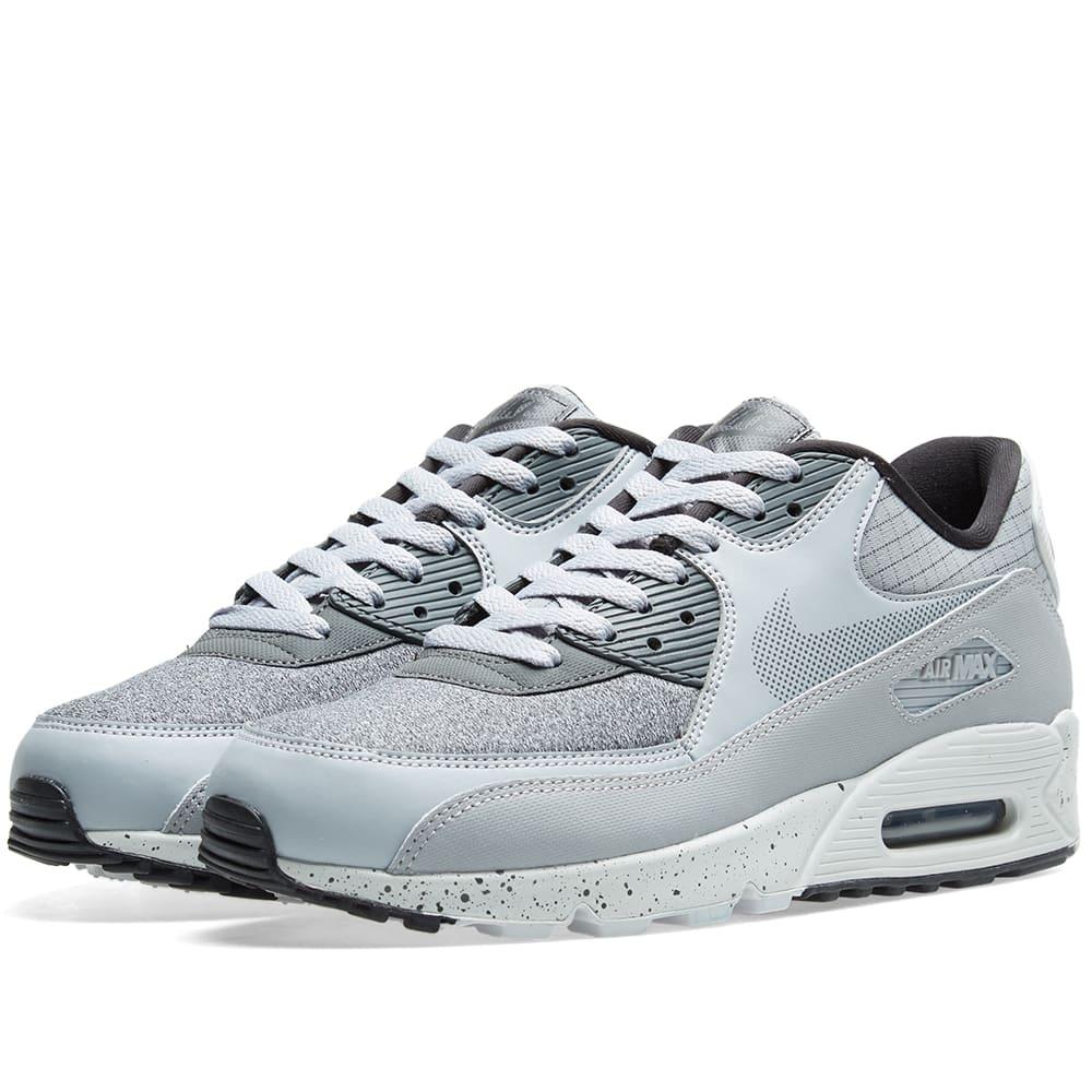 on sale e24a2 17bdd Nike Air Max 90 Premium Grey, Black, Platinum   White   END.