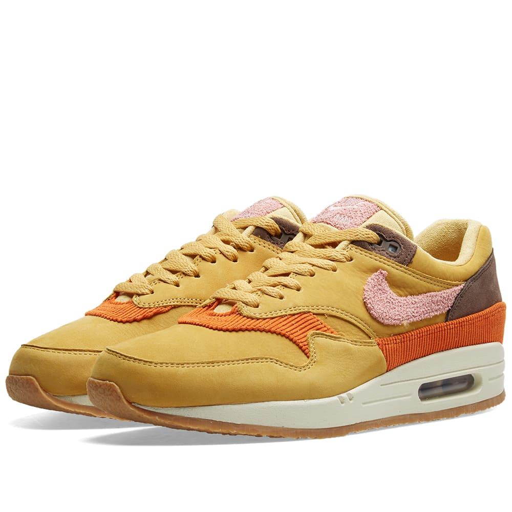 Nike Air Max 1 Crepe Wheat Gold Rust Pink CD7861 700