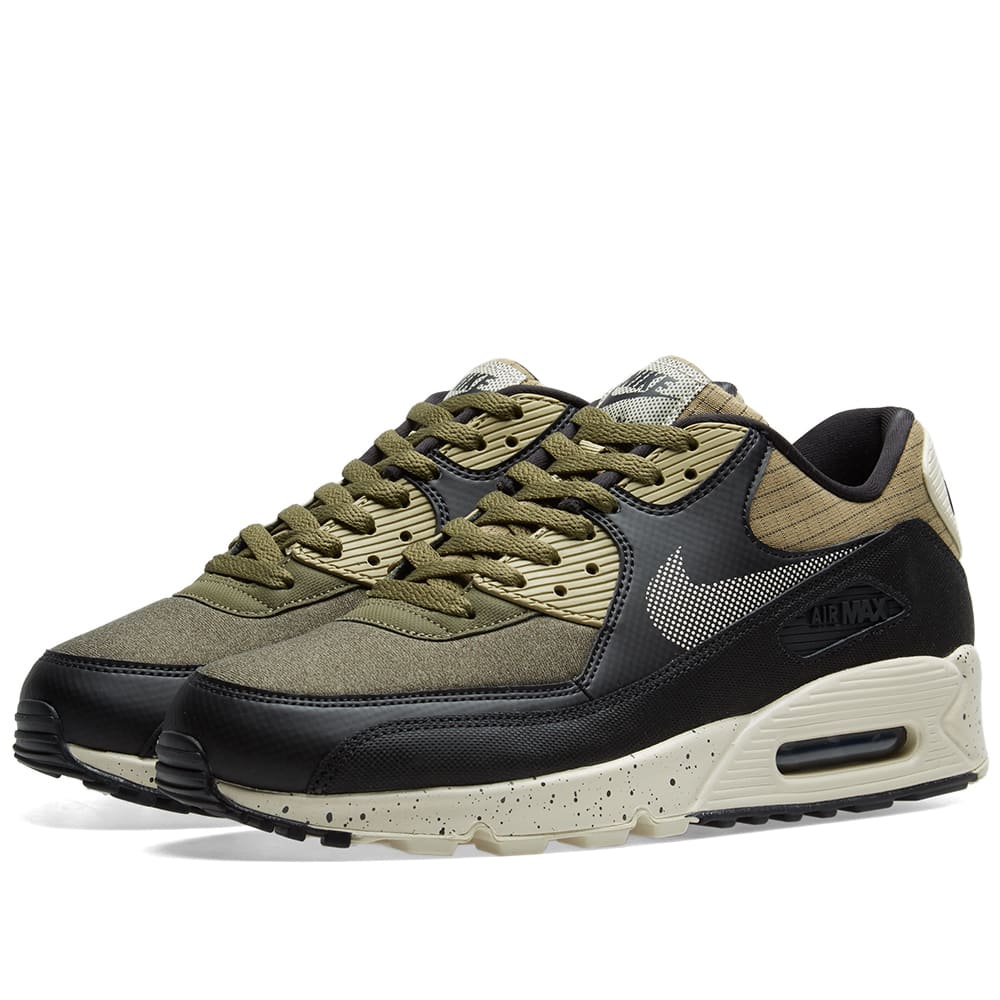 big sale 4c624 d9b56 Nike Air Max 90 Premium Olive, Black   Anthracite   END.