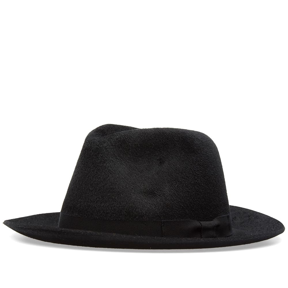 307509b90ea Larose Noir Small Brim Fedora Black | END.