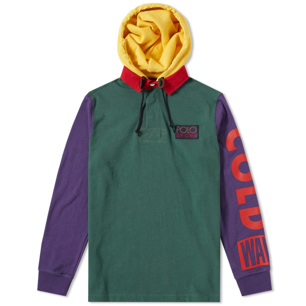 Beach' Shirt Rugby Hooded Ralph 'snow Polo Lauren EH2Ye9DWI