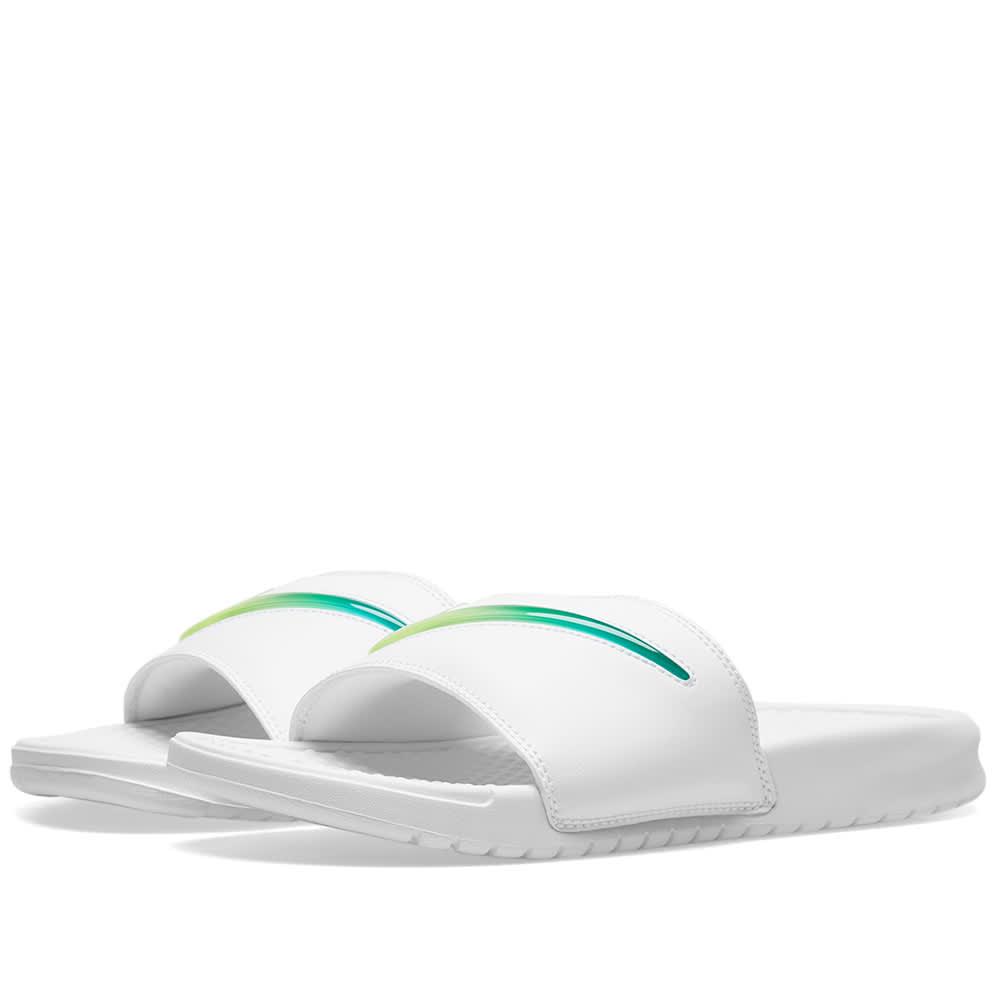 competitive price 95304 3d230 Nike Benassi JDI SE  Jelly  White, Jade   Volt   END.