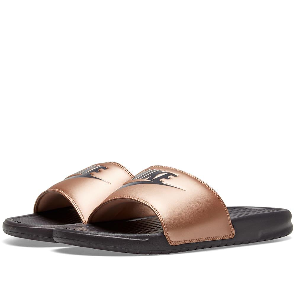 5fea44f58 Nike Benassi JDI W Metallic Red Bronze   Grey