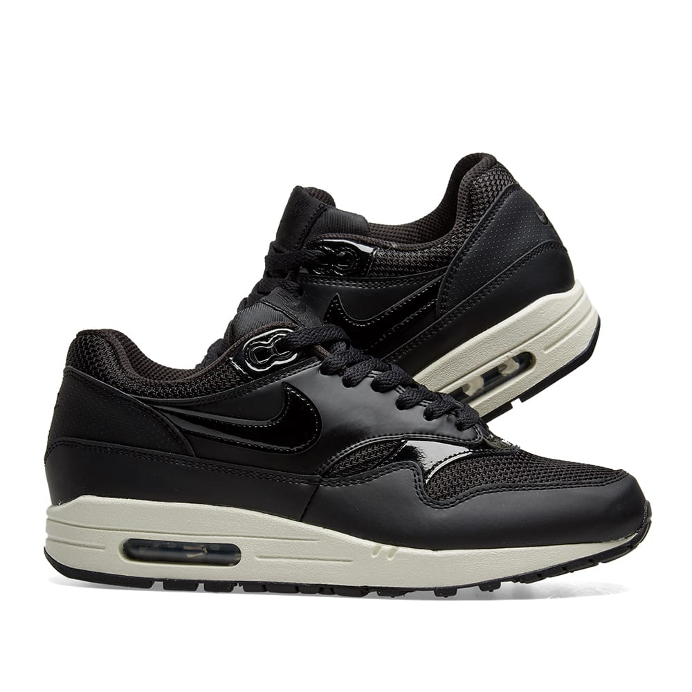 san francisco cbd3c fe564 Nike Air Max 1 W. Black   Summit White