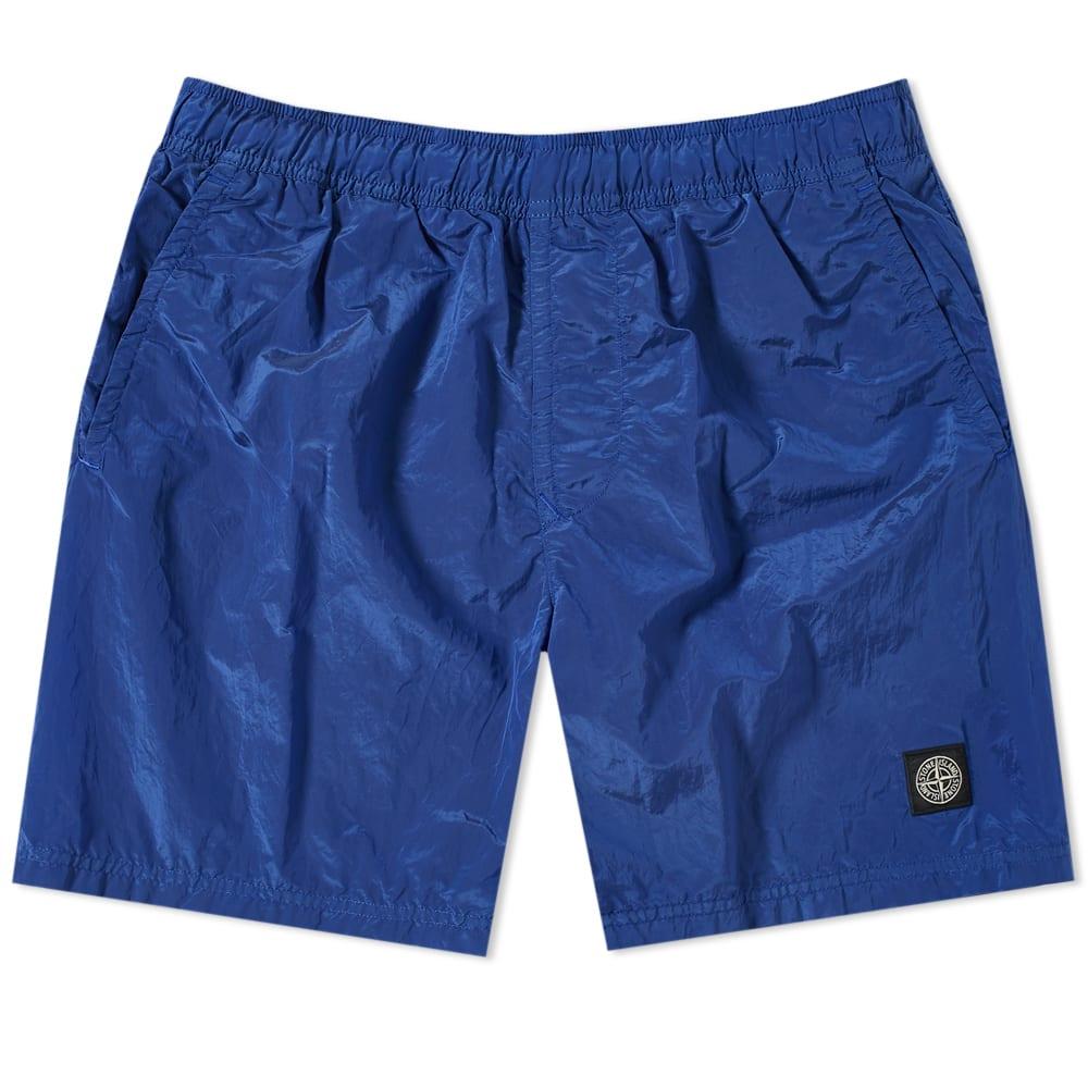 783f039ef8 Stone Island Nylon Metal Patch Logo Swim Short Blue | END.