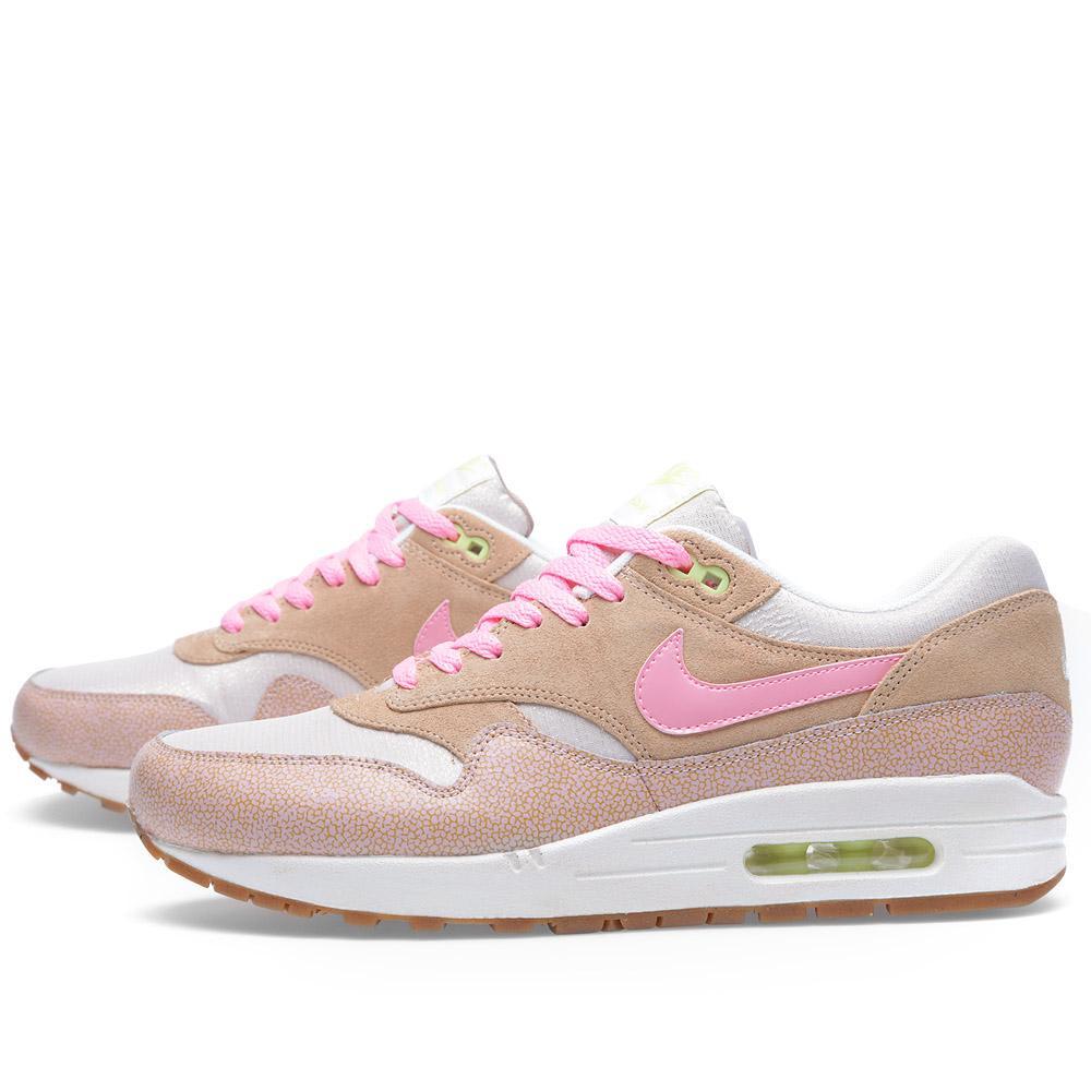 best cheap 0ba28 f86b8 Nike Air Max 1 PRM. Dusted Clay   Polarized Pink