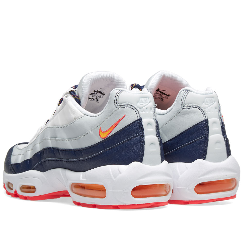 2175a80aca Nike Air Max 95 W Navy, Orange & Platinum | END.