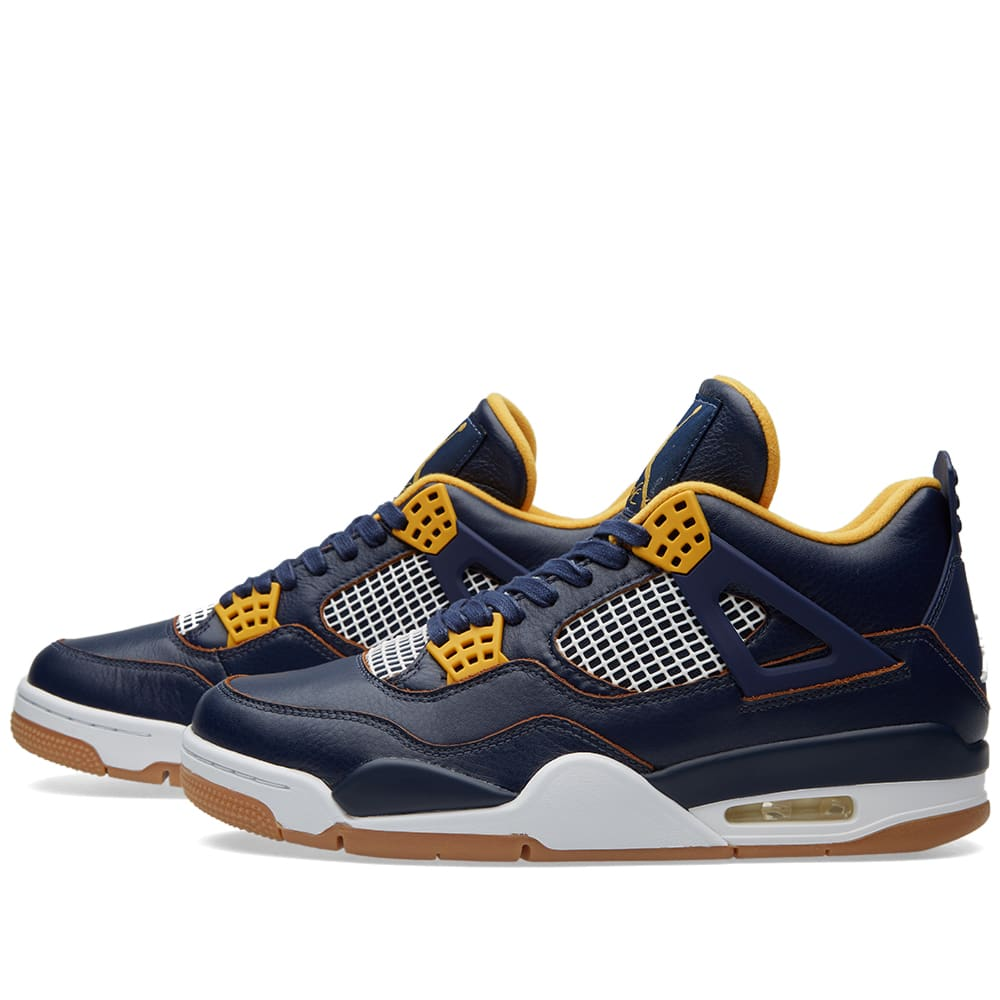 4b4057e65283 Nike Air Jordan IV Retro  Dunk From Above  Mid Navy   Metallic Gold ...