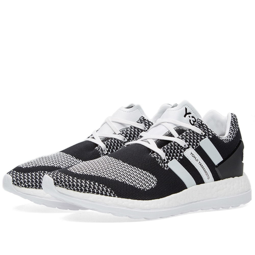 46c20db07 Y-3 Pure Boost ZG Knit Black   White