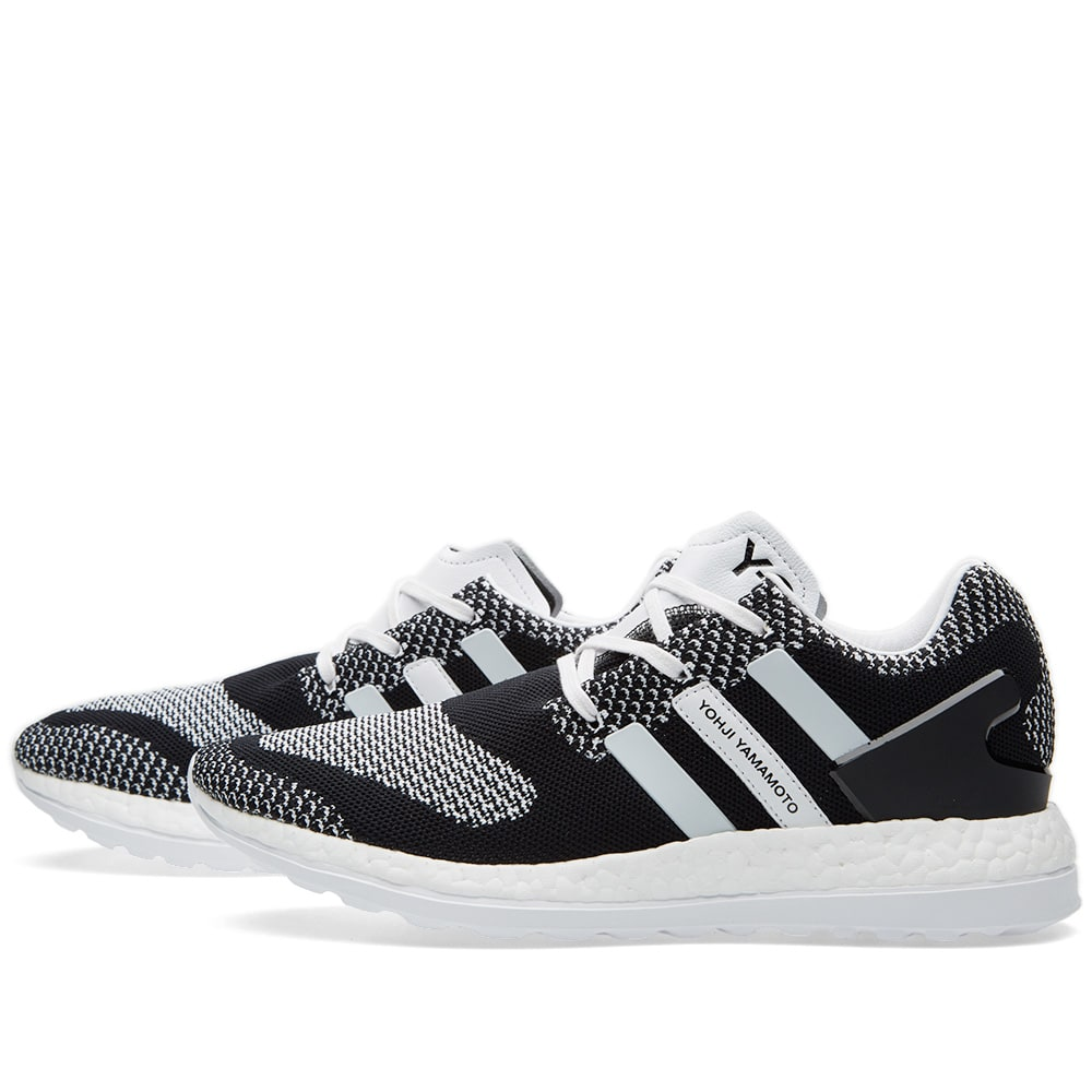 0ae5bb97e Y-3 Pure Boost ZG Knit Black   White